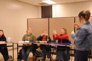 Meredith講師が受講した通訳クラス風景