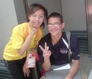 台湾の通訳者とツーショット