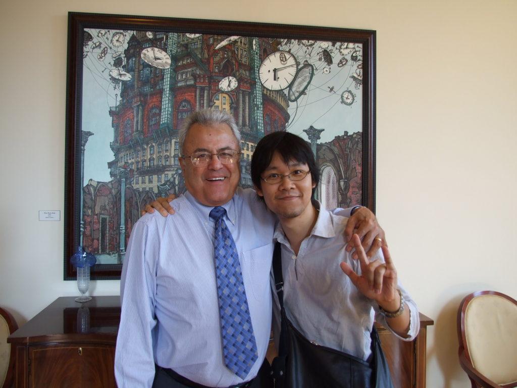 ダビラ学長と高山さん(2007年)