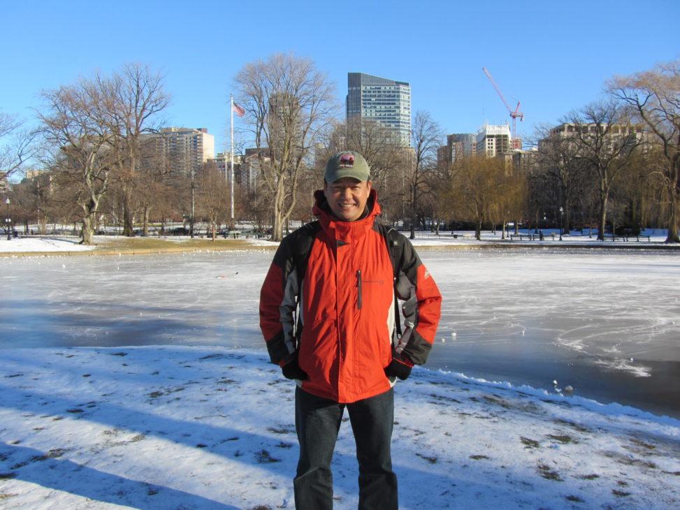 2013年1月ボストンにて